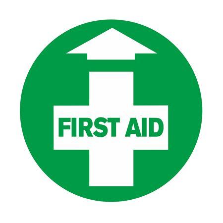 Anti-Slip Floor Decals - First Aid 18 inch diameter