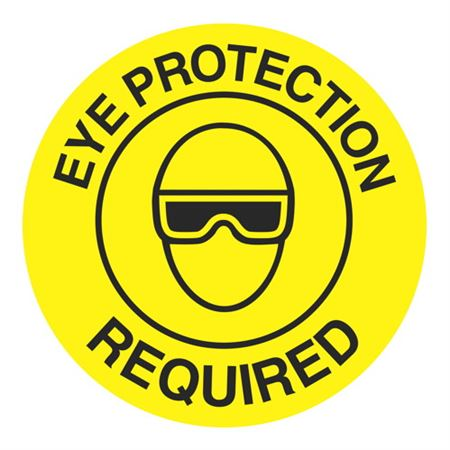 Eye Protection Required - 18 inch diameter