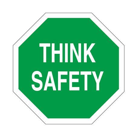 Anti-Slip Floor Decals - Think Safety 18 inch diameter
