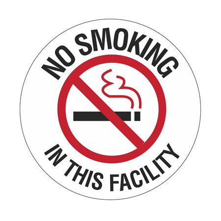 No Smoking In This Facility - 18 inch diameter