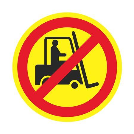 Anti-Slip Floor Decals - No Forklift 18 inch diameter