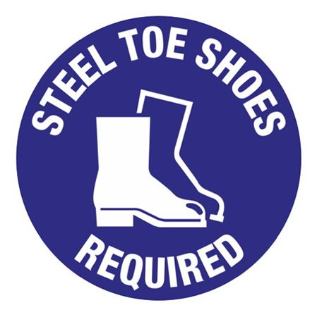 Steel Toe Shoes Required - 18 inch diameter