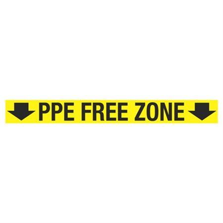 Anti-Slip Floor Decals - PPE Free Zone - 4 x 36