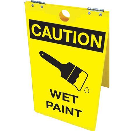 Caution Wet Paint Floor Stand 12x20