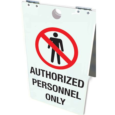 Authorized Personnel Only Floor Stand 12x20