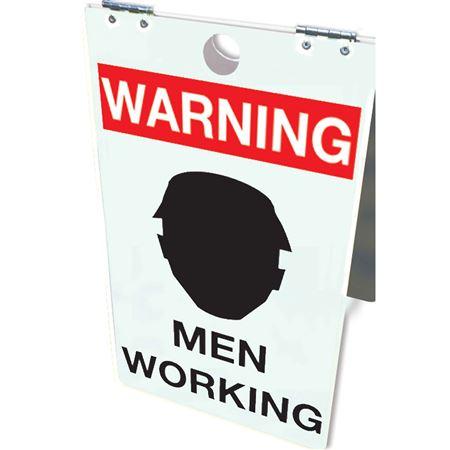 Warning Men Working Floor Stand 12x20