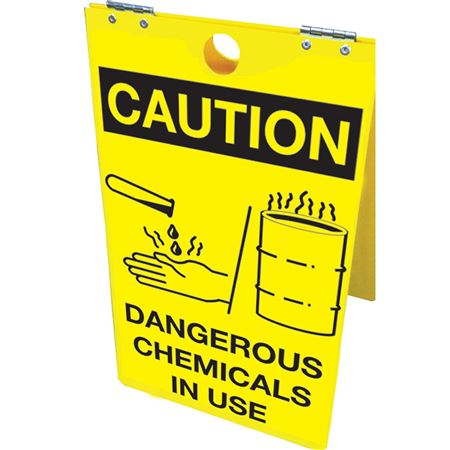Caution Dangerous Chemicals In Use Floor Stand 12x20