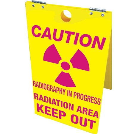 Caution Radiography In Progress Radiation Keep Out - Floor Stand - 12 x 20