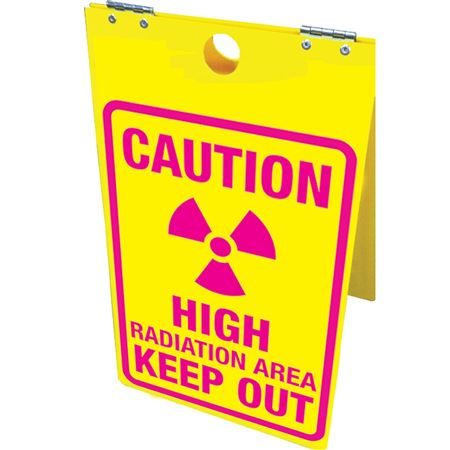 Caution High Radiation Area Keep Out Floor Stand 12x20