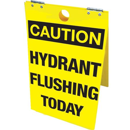 Hydrant Flushing Today Floor Stand 12x20