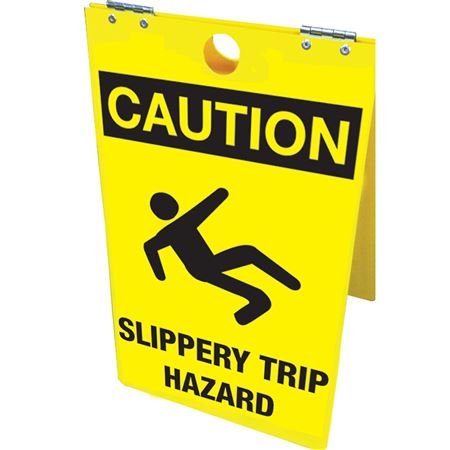 Caution Slipper Trip Hazard Floor Stand 12x20