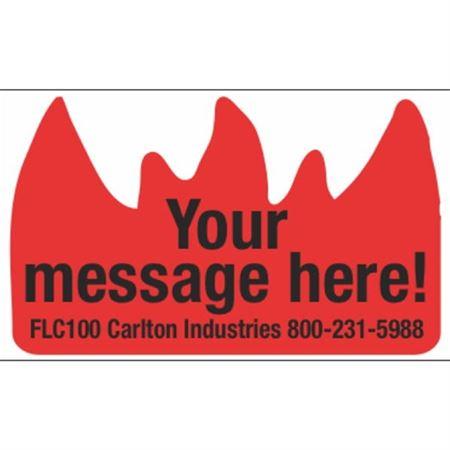 Flame Labels - Custom - Custom Flame Label 1 1/2 x 2 3/8 inches