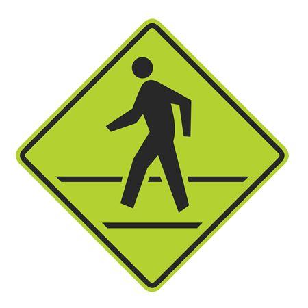 Pedestrian Crosswalk Graphic Diamond Sign 24 x 24