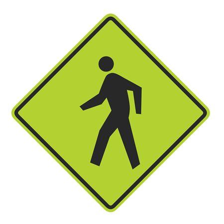 Pedestrian Crossing Graphic Diamond Sign 24 x 24