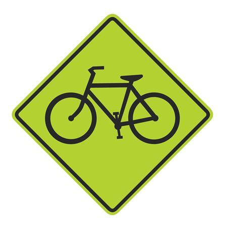Bike Crossing Graphic Diamond Sign 30 x 30