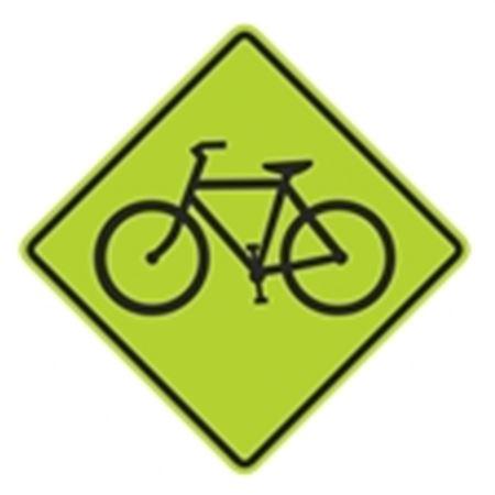 Bike Crossing Graphic Diamond Sign 24 x 24
