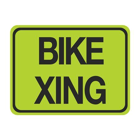 Bike Xing Sign 18 x 24