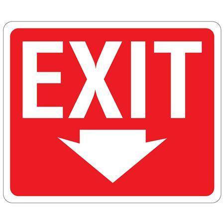 EXIT Down Arrow Sign