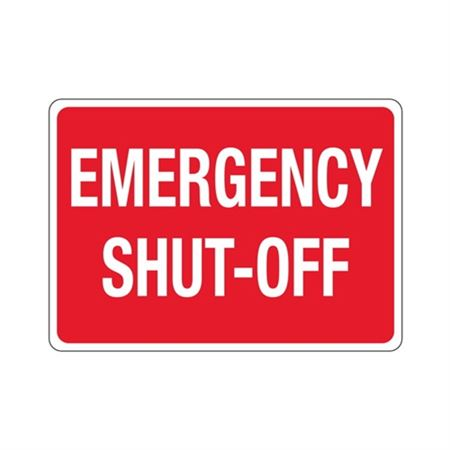 Emergency Shut-Off Sign