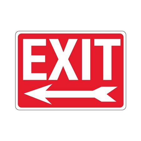 EXIT Left Arrow Sign