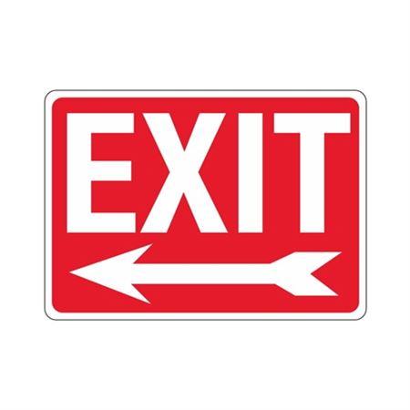 EXIT Left Arrow Sign