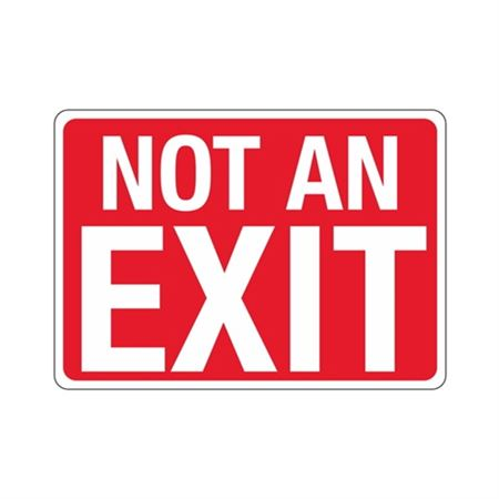 Not An Exit Sign - 10 x 14