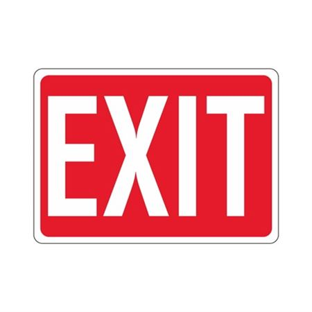 EXIT (White Text on Red) Sign