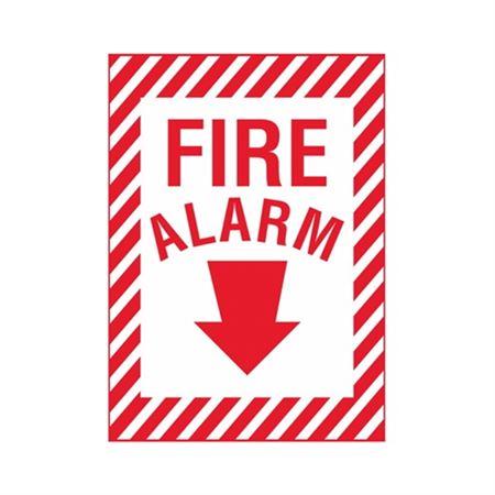 Fire Alarm (Down Arrow) Sign