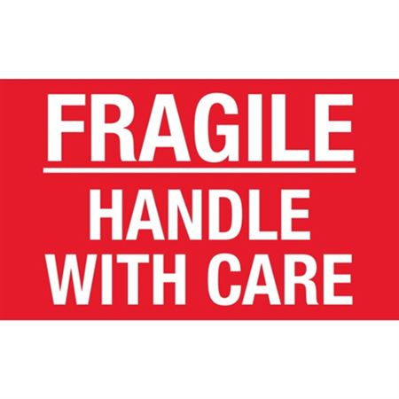 Fragile Handle With Care - Large 3 x 5
