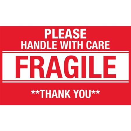 Please Handle With Care Fragile Thank You - Large 3 x 5
