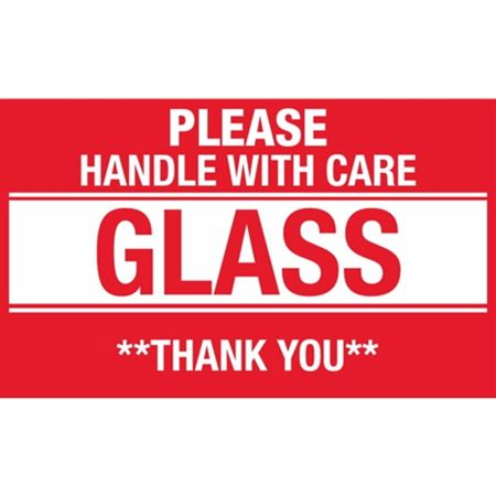 Please Handle With Care Glass Thank You - 3 x 5