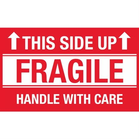 This Side Up Fragile Handle With Care - Large 3 x 5