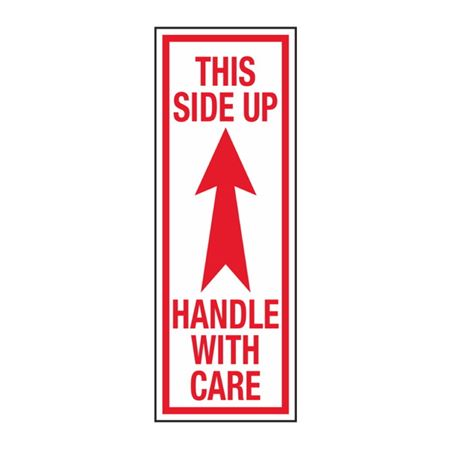 This Side Up Handle With Care - 2-1/2 x 7