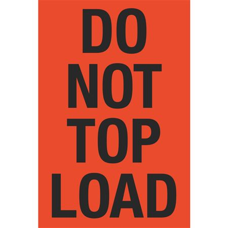 Fluorescent Shipping Labels - Do Not Top Load 4 x 6