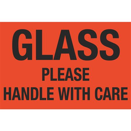 Glass Please Handle With Care 4 x 6