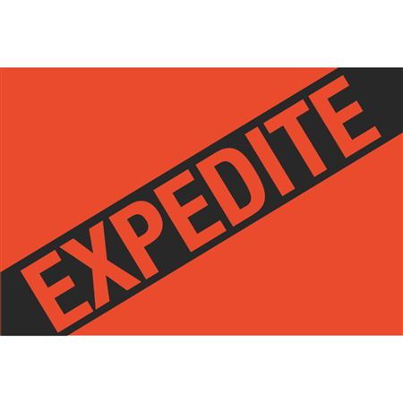 Fluorescent Shipping Labels - Expedite 4 x 6