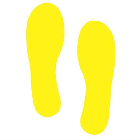 Footprint Decals - Footprint - Yellow 4x12
