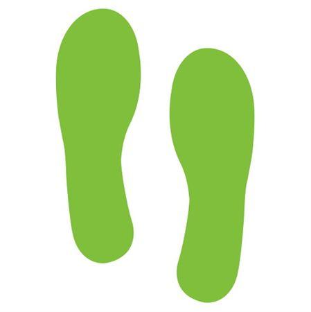 Footprint Decals - Luminescent - 4 x 12 - PK/12