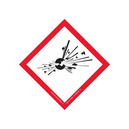 "Globally Harmonized 4"" Exploding Bomb Paper Label"