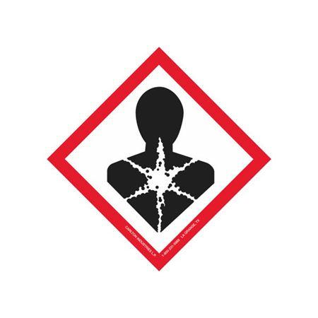 "Globally Harmonized 2"" Labels - GHS Health Hazard"