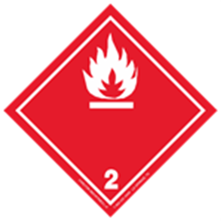 GHS Class 2 Flammable Gas Label Transport Pictogram 2 Inch