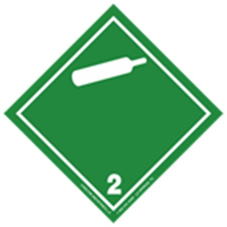 GHS Class 2 Non-Flammable Gas Label Transport Pictogram 2 Inch