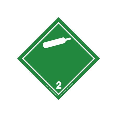 GHS Class 2 Non-Flammable Gas Label Transport Pictogram 4 Inch