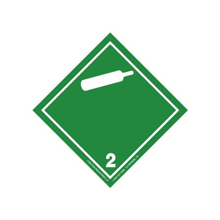 """GHS Class 2 Non-Flammable Gas Label Transport Pictogram 2"""""""