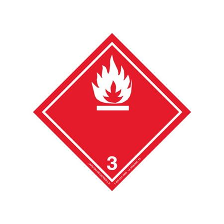 GHS Class 3 Flammable Liquid Label Transport Pictogram 4 Inch