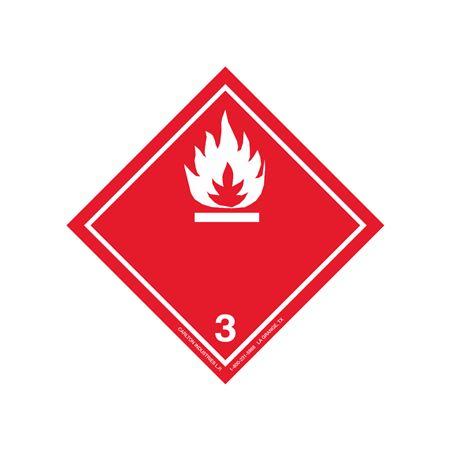 "GHS Class 3 Flammable Liquid Label Transport Pictogram 4"""