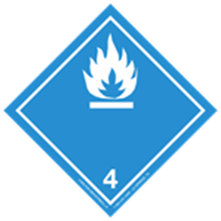 Class 4 (White Flame) Transport Pictogram 2 In. Label RL/500