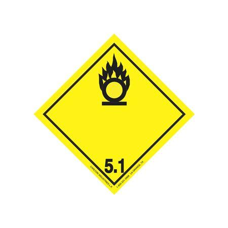 "GHS Class 5.1 Oxidiz. Material Label Transport Pictogram 2"""