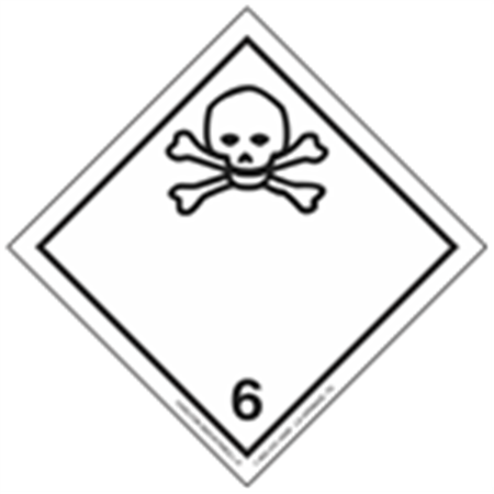 GHS Class 6 Poisonous Material Label Transport Pictogram 2 Inch