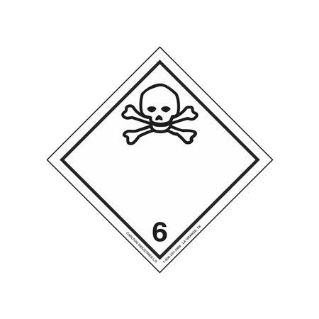 "GHS Class 6 Poisonous Material Label Transport Pictogram 4"""